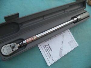 Snap On 1 2 Drive New Style Torque Wrench Qd3r250 50 250 Ft Lb W Case Nice
