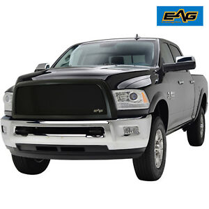 13 18 Dodge Ram 2500 3500 Replacement Grille Grill Matte Black Steel Upper 17