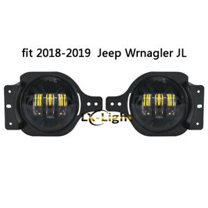 Newest Pair 4 Osram Led Fog Lights Passing Lamp For 2018 2019 Jeep Wrangler Jl