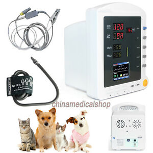 Veterinary Patient Monitor Vital Signs Portable Machine Nibp Spo2 Pulse Rate Lcd