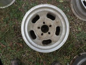 Aluminum Slot Mag Wheel 15x7 Unilug Vintage Rim Hot Rat Rod