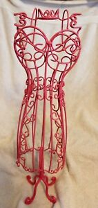 Pink Wire Mannequin 22 Metal Sturdy For Display Or Decoration