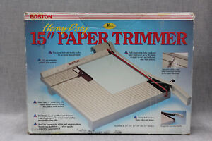 Boston 2615 Paper Trimmer Cutter Guillotine Style 15 Square New In Box Vintage