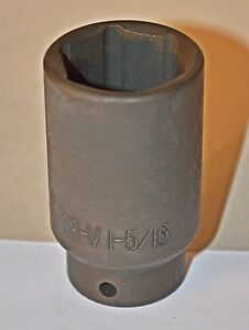 1 5 16 Inch 6 Point Deep 1 2 Inch Drive Impact Socket