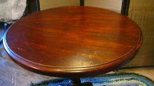 Antique Round Mahogany Pedestal Breakfast Table