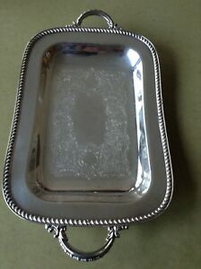 Vintage Art S Co Spc 230 Butler S Serving Tray Silver Plated Copper Very Nice
