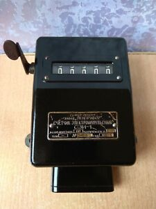 Vintage Old Rare Antique Soviet Russian Ussr 1961 Electrical Meter Sei 1 Counter