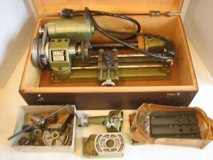 Unimat Sl 1000 Mini Lathe Jewelry Making Gunsmithing With Accessories And Box