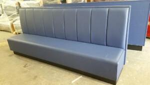 Custom Design New Restaurant Booth Single Long Bench With Channel 10 Ft