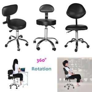 Rolling Work Stool Adjustable Height Swivel Office Studio Medical Chair Drafting