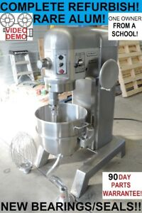 Hobart H600t 60 Qt Quart Rare Aluminum Bakery Pizza Dough Mixer From A School