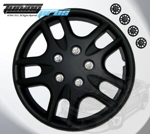 Matte Black Style 523 15 Inches Hubcap Wheel Cover Rim Skin Covers 15 Inch 4pcs