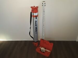 David White Builders Transit Tripod And Measuring Stick