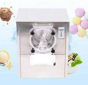 1400w Commercial Hard Ice Cream Machine 20l h Stainless Steel Ice Cream Maker
