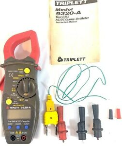 Triplett 9320 a True Rms Ac dc Clamp on Meter Clean Working