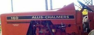 Allis Chalmers 160 Hood Decal Set