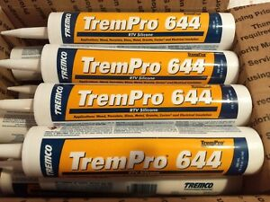 10 1 Oz Trempro 644 Rtv Silicone Clear 12 Tubes Free Shipping
