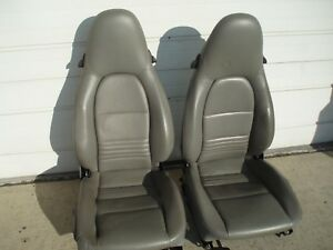 Porsche 911 Coupe Cabriolet 99 05 Bucket Seats Mounted On Sliders Adapters