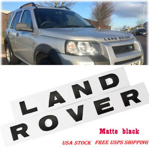 Land Rover 3d Matte Black Letters Auto Car Hood Trunk Emblem Badge Decal Sticker