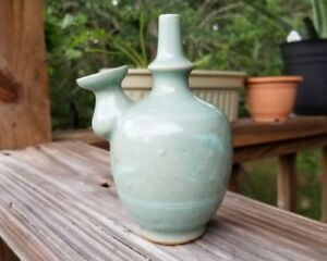 Good Antique 19th C Korean Celadon Water Pot Dropper Suicyu Very Rare 12 5 Cm