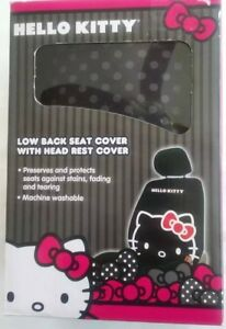 Lot Of 2 Hello Kitty Low Back Seat Covers Head Rest Covers