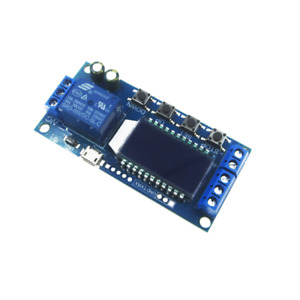 Micro Usb Lcd Display Time Delay Relay Module Dc 6 30v 10a Multifunction Timer