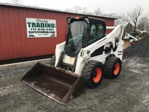 2013 Bobcat S770 Skid Steer Loader W Cab Kubota Engine Only 400 Hours
