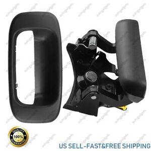 Black Tailgate Handle Bezel Trim Kit Set For Chevy Gmc 1500 2500 2500hd Classic