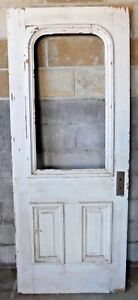 Antique Victorian Style Arch Top Entry Door C 1880 Architectural Salvage