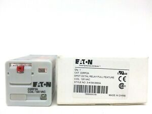 Eaton D3rf2a Dpdt Octal Relay Full Feature