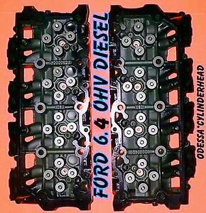 New Pair Ford 6 4 Powerstroke V8 Twin Turbo Diesel F350 Truck Cylinder Heads