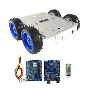 Tank Toys Car Chassis Kit Bluetooth Driver Kit For Arduino 4wd C300