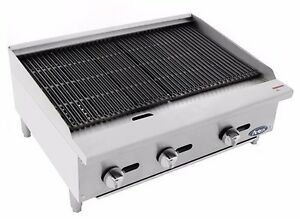 Atosa Usa Atrc Gas Heavy Duty Stainless Steel 24 36 48 Radiant Char Broiler