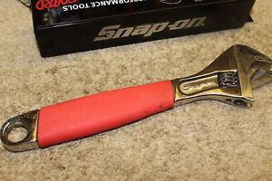Snap On Tools 10 Adjustable Wrench Soft Grip Handle Adh10 Usa