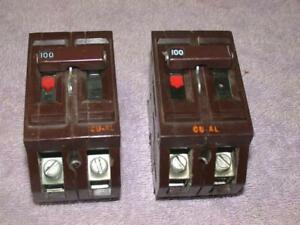 Wadsworth 100 Amp 2 Pole Cu al Circuit Breaker Km350 Free S h