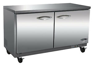 Ikon Iuc60 Undercounter Refrigerator 2 Section 61 1 5 w Stainless Steel Top