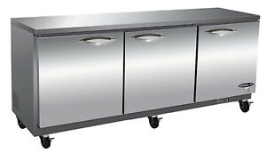 Ikon Kuc72 Undercounter Refrigerator 3 Section 71 7 10 w Stainless Steel Top