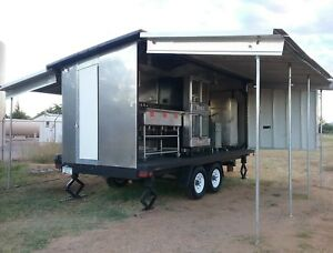 Concession Catering Stand State Fair Food Bbq Trailer Portable Grill Very Nice