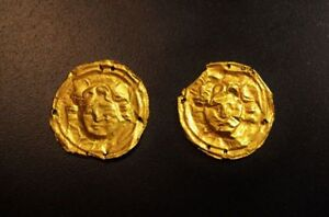 Greek Gold Ornaments With Medusa