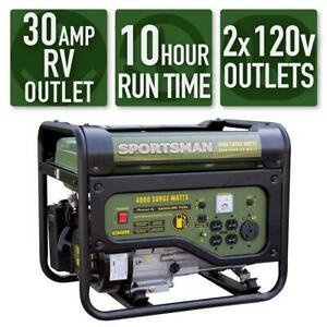 Sportsman 4000 w 7hp Portable Rv Ready Gas Powered Generator Home Backup Camping