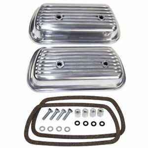 Empi 9152 Vw Air Cooled Bug Ghia Aluminum Bolt On Valve Covers pair W gaskets