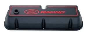 Proform 302 003 Ford Racing 289 302 351w Black Wrinkle Aluminum Tall Valve Cover