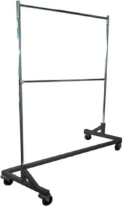 Only Hangers Deluxe Commercial Grade Rolling Z Garment Rack With Nesting Base