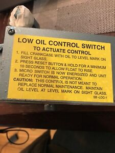 Saylor beall Low Oil Control Switch Part 6304 New Free Shipping