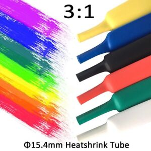 15 4mm Heatshrink Tube Heat Shrink Tubing 3 1 Adhesive Glue Lined Waterproof