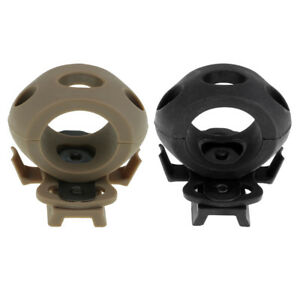2pcs Tactical Flashlight Holder Mount Rail Clamp Accessories for Fast Helmet