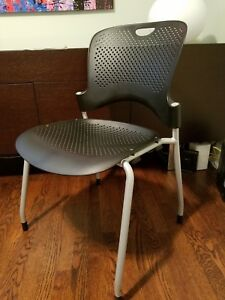 Herman Miller Caper Chair Black Used Slightly Comfortable Stackable