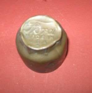 Vintage Script Ford Model T Auto Grease Dust Cover Hub Axle Center Cap