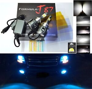 Led Kit C 80w H7 10000k Blue Two Bulbs Head Light Low Beam Replacement Lamp Fit