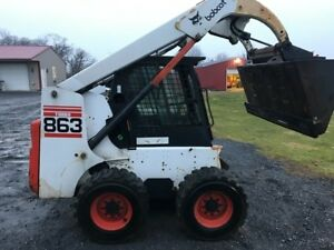 1999 Bobcat 863f Skid Steer Loader W Cab Only 2100 Hours Coming Soon